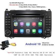 Android10 2Din Auto Radio Car DVD GPS Head unit for Mercedes Benz B200 B Class W169 W245 Viano Vito W639 Sprinter W906 Bluetooth