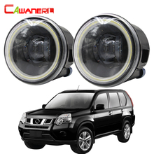 Cawanerl для Nissan X Trail T31 Car H11 2007 лм светодиодный ная лампа противотумансветильник фары Angel Eye DRL 12 В Стайлинг 2008 2009 2010 2011 2012 2013