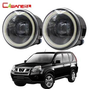 Image 1 - Cawanerl Para Nissan X Trail T31 H11 4000LM LEVOU Bulbo Do Carro Fog Light Angel Eye DRL 12V Styling 2007 2008 2009 2010 2011 2012 2013