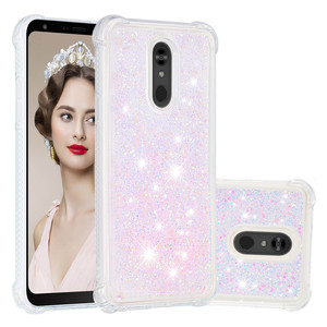 Image 2 - Liquid Quicksand Phone Cases For LG K40 K12 Plus Case Cover For LG Stylo 5 Luxury Glitter Bling Sequin Soft TPU Funda Coque Gift