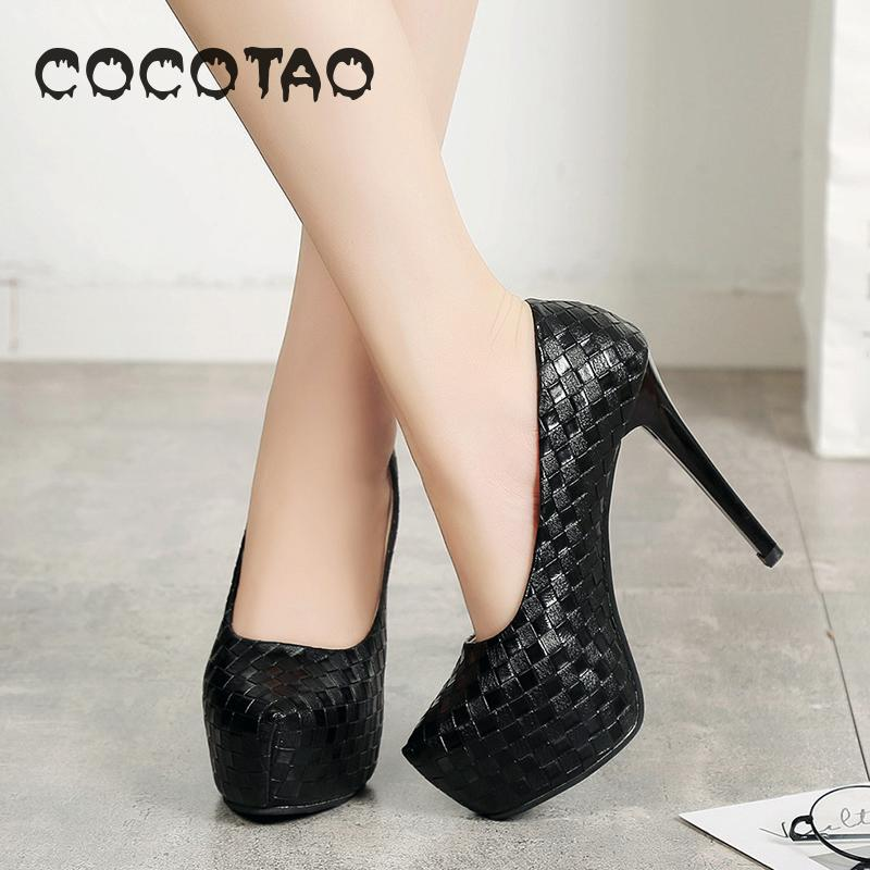 Вечерние водонепроницаемые модельные туфли на высоком каблуке 12 см, новые модельные туфли на каждый день 32