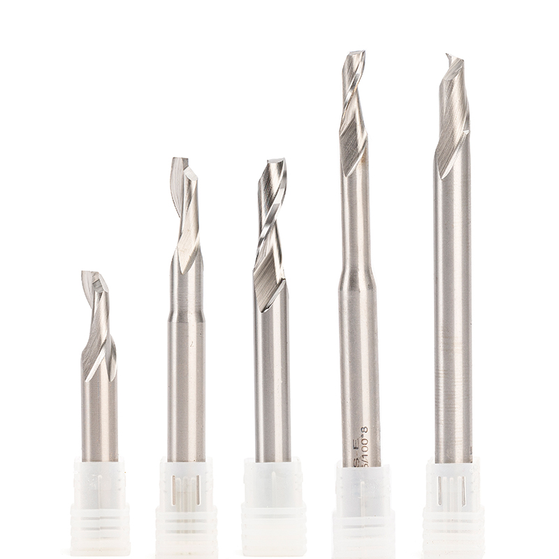 10pc One Flute End Mill Bit HSS Single Flute Aluminum Copper Cutting CNC Lathe Milling Machine Endmill Cutter Tool SHK 8mm 10mm