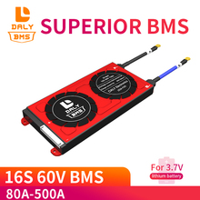 60V li ion BMS 16S 80A 100A 500A płyta ochronna PCM z balansem do elektrycznego samochodu EBike skuter słoneczny do baterii litowej