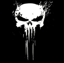 Black/Silver/3D PUNISHER Skull BLOOD Vinyl Car Body Decals Stickers Motorcycles Decoration 10 x 15CM skull sward shape chrome car body sticker silver black red