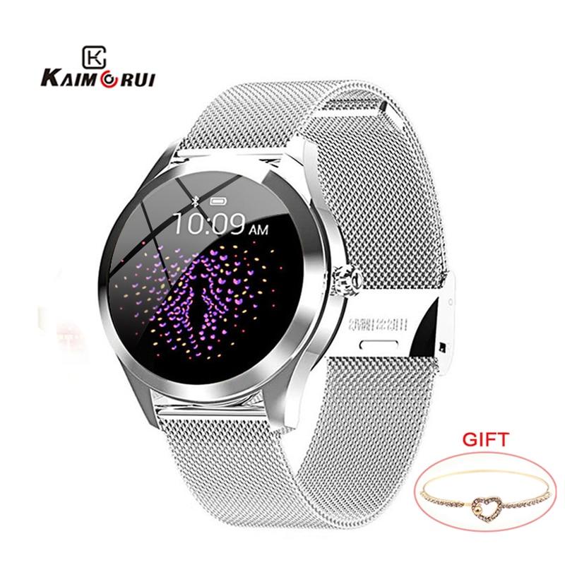 KW10 IP68 Waterproof Smart Watch Women Heart Rate Tracker Sport Smartwatch Fitness Bracelet Connect Android IOS KW20 smartband