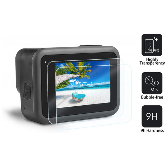 Sports camera Screen protectors for Gopro Hero 8 Tempered glass screen protector for Gopro 8 Lens Protector camera accessories 5