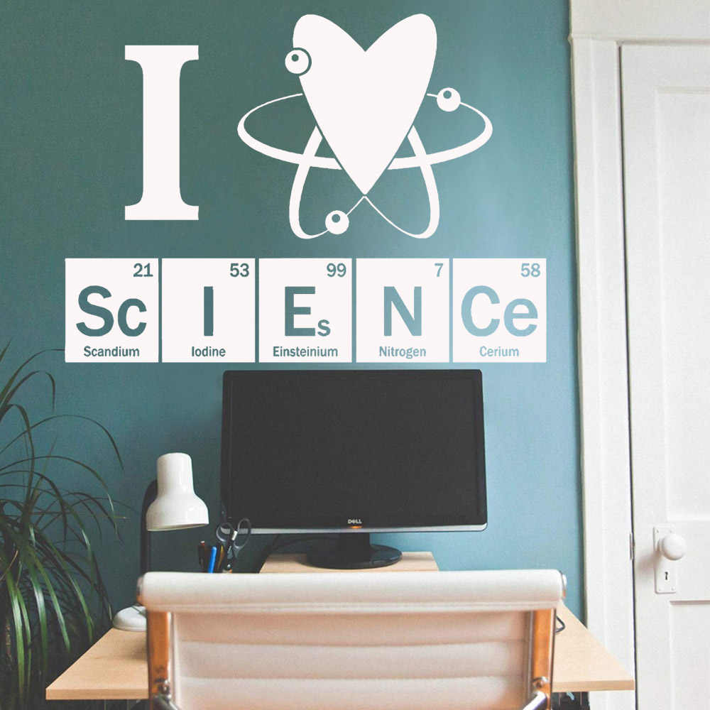 Periodic Table Of Elements Series Wall Stickers Words Quotes Vinyl Wall Decal Kitchen Sticker For Chemical Lovers Adesivi Cucina Wall Stickers Aliexpress