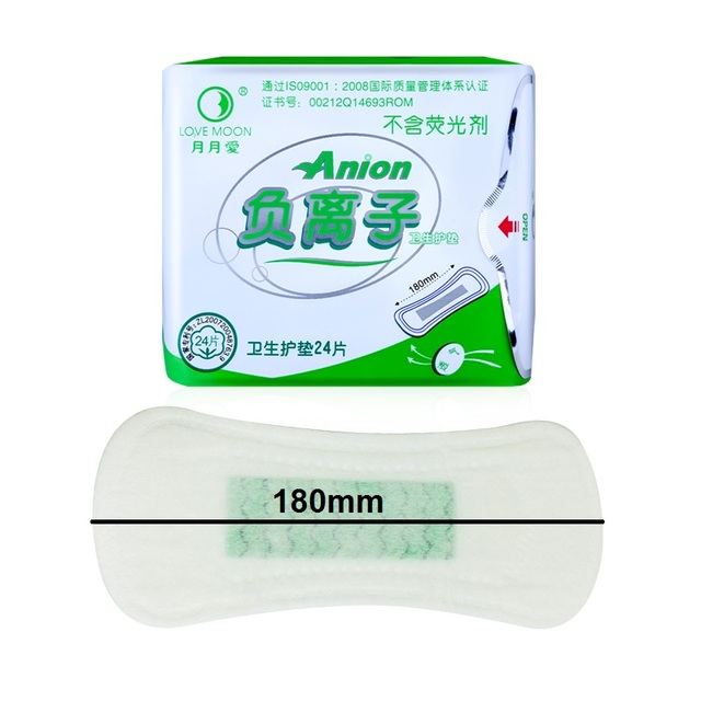 10 pack love moon anion sanitary pads 100% cotton anion pads winalite anion love moon strip panty liner feminine hygiene product 3