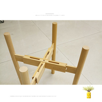 Adjustable Plant Stand Holder Rack Wooden Sturdy for Flower Potted Indoor Outdoor Store