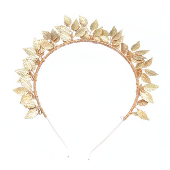 Baroque Forehead Head Jewelry Silver Gold Metal Leaf Greek Hair Band Tiara Bridal Wedding Hair Accessories For Women Headpiece 1