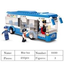 цена на New hot sale City Town Bus Station Star Tour School doouble london Bus Building Blocks Car bus Model Toys for Children blocks