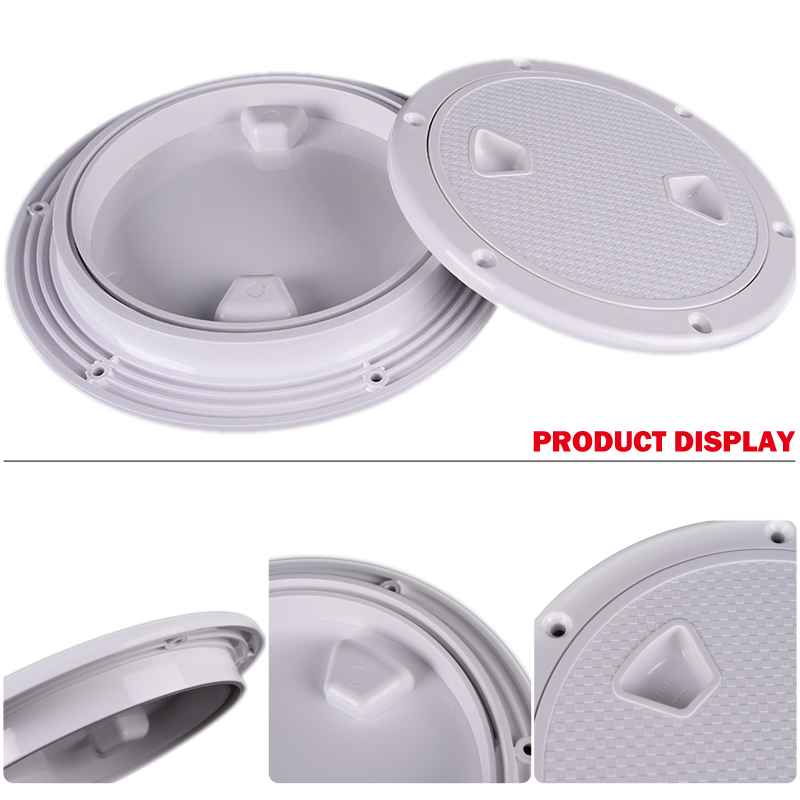 "Image 5 - 4"" Deck White Plastic Round Inspection Access Hatch Cover Tight Screw Out Anti corrosive Deck Plate for Boat Yacht Marine Access-in Marine Hardware from Automobiles & Motorcycles"