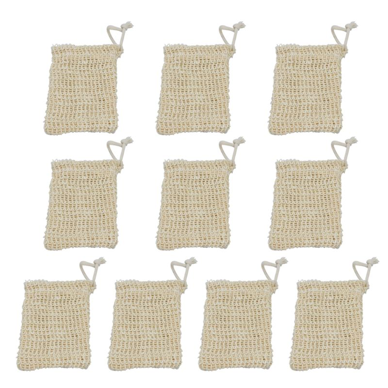 10 упаковка отшелушивающий брусок мыло держатель мыло заставка ручная работа сизаль мыло мешки сетка мешочек