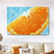 Oil Painting Oranges In Water Nature Canvas Painting Home Kitchen Decoration