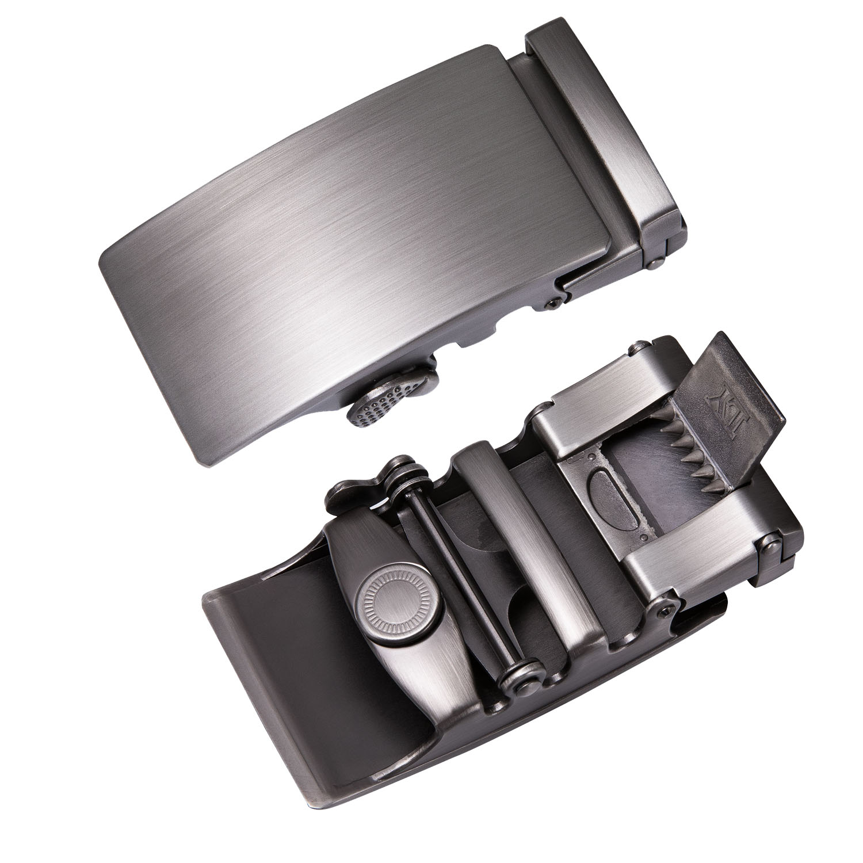 Men/'s Automatic Slide Buckle Replacements Metal Ratchet Leather Belt Buckles