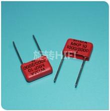 10 Chiếc Đỏ Wima MKP10 1NF 2KV P10mm Ban Đầu Mới MKP 10 102/2000V Âm Thanh 0.001UF Phim 102 PCM10 Bán 1000pf 1nf/2000 V
