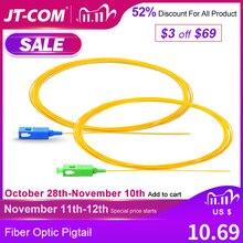 20/50/100/200 szt. SC APC przewód światłowodowy Simplex 0.9mm 9/125 jednomodowy 1 rdzeń SC UPC optyczny Pigtail światłowodowy 1.5M