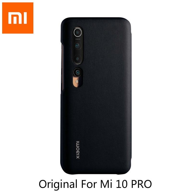 Original Xiaomi Mi 10 Pro Mi 10 Case Protective Shell Phone Covering Smartphone Wake Up Closed Sleep Translucent Smart Window