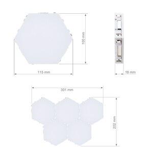 Image 5 - FAI DA TE Quantum Lampada LED Esagonale luce di Notte Della Lampada di Tocco Sensibile Modulare Magnetico Esagoni Creativo Lampada Da Parete Della Decorazione