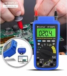 Цифровой мультиметр с автоматическим диапазоном HoldPeak HP-90EPC Multimetro с USB-кабелем для подключения ПК, выхода и записи данных