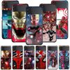 Smartphone Case For Samsung Galaxy Z Flip3 5G Z Flip 3 z flip ZF 5G Cover PC Capa Hard Funda Coque Marvel Iron Spider Man