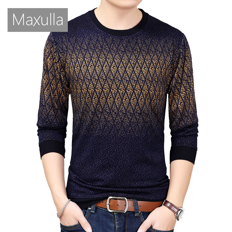 Maxulla Mens Sweaters Casual Social Wool Pullover Sweater Shirt  Jersey Clothing Mens Fashion Knitted Pull Sweaters