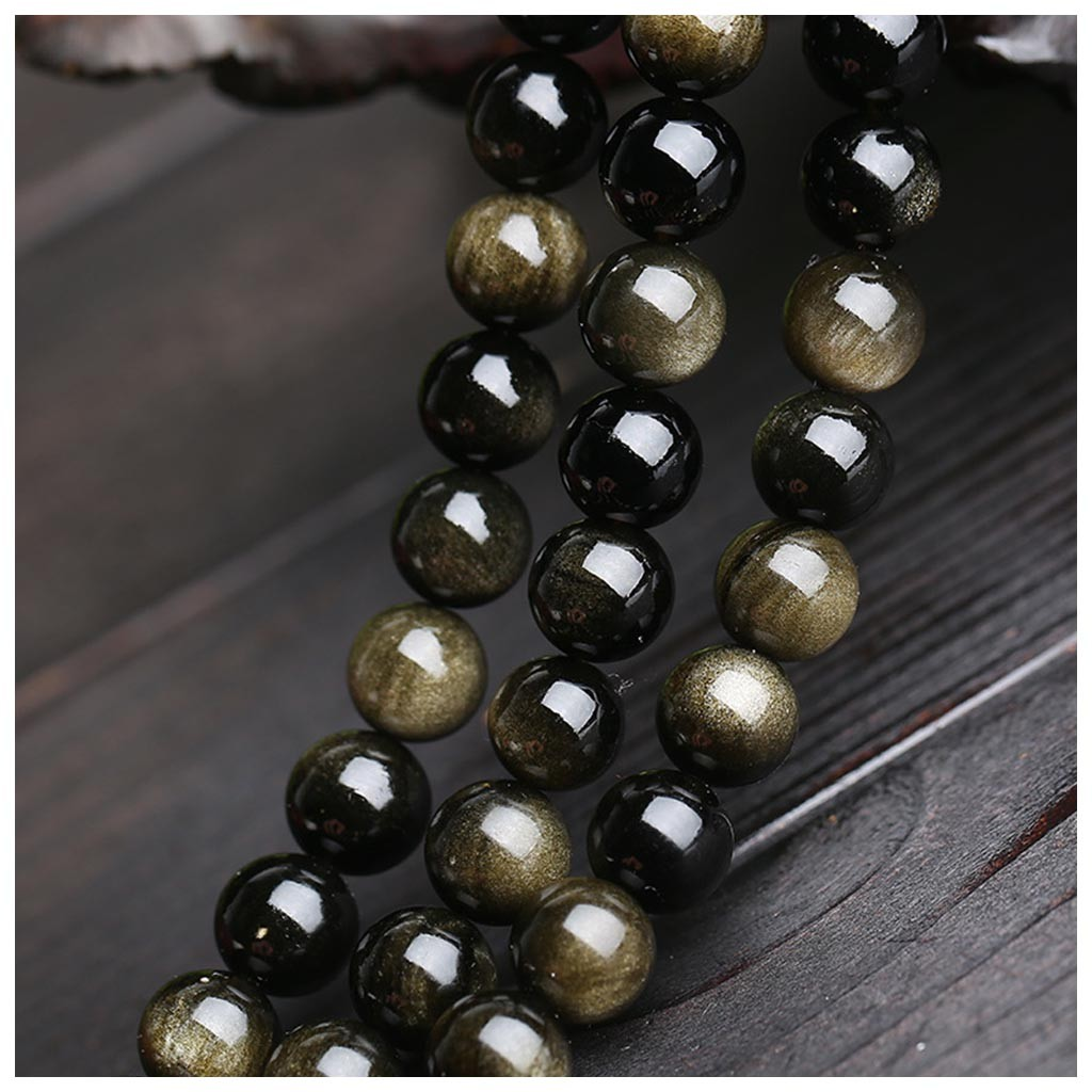 Creativity Natural Gemstone Round Spacer Loose Beads 1 Strand  (Black Gold  8mm ) Learning Kids Toys Juguetes Brinquedos игрушки