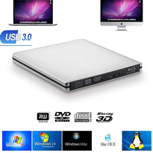 Externe Blu-ray Brander USB3.0 Dvd Spelers 3D Slanke Optische Drive Blu-Ray Writer Reader Cd/Dvd Brander Voor Windows/Ios