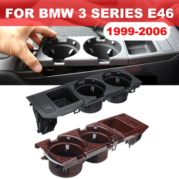 Car Front Center Console Cup Box Dual Drinks Cup Holder Beverage Stand Drink Water Bottle For BMW 3 Series E46 318i 320i 98-06