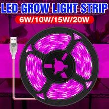 5V LED Coltiva La Luce SMD 2835 Impermeabile USB Phyto Lampade A LED Piante Striscia Per La Serra Idroponica Fiore Pianta Che Cresce 1M 2M 3M