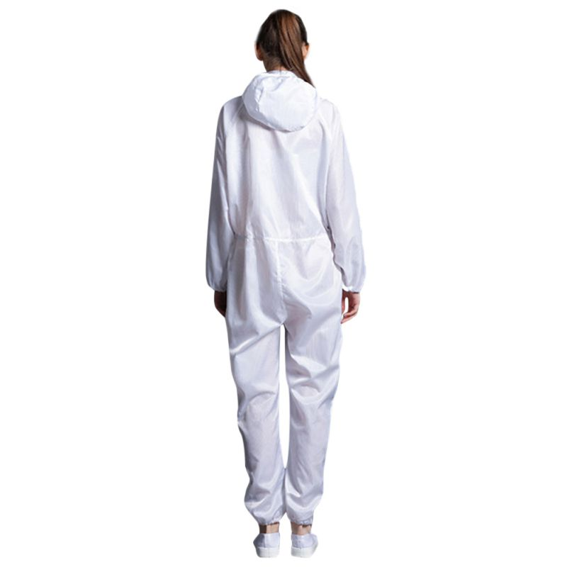 COVID-19 Virus Polyester Protective Suit For Doctors Antistatic Dust-Proof Uniform Painting Coverall Work-Wear Clothes PVC 2