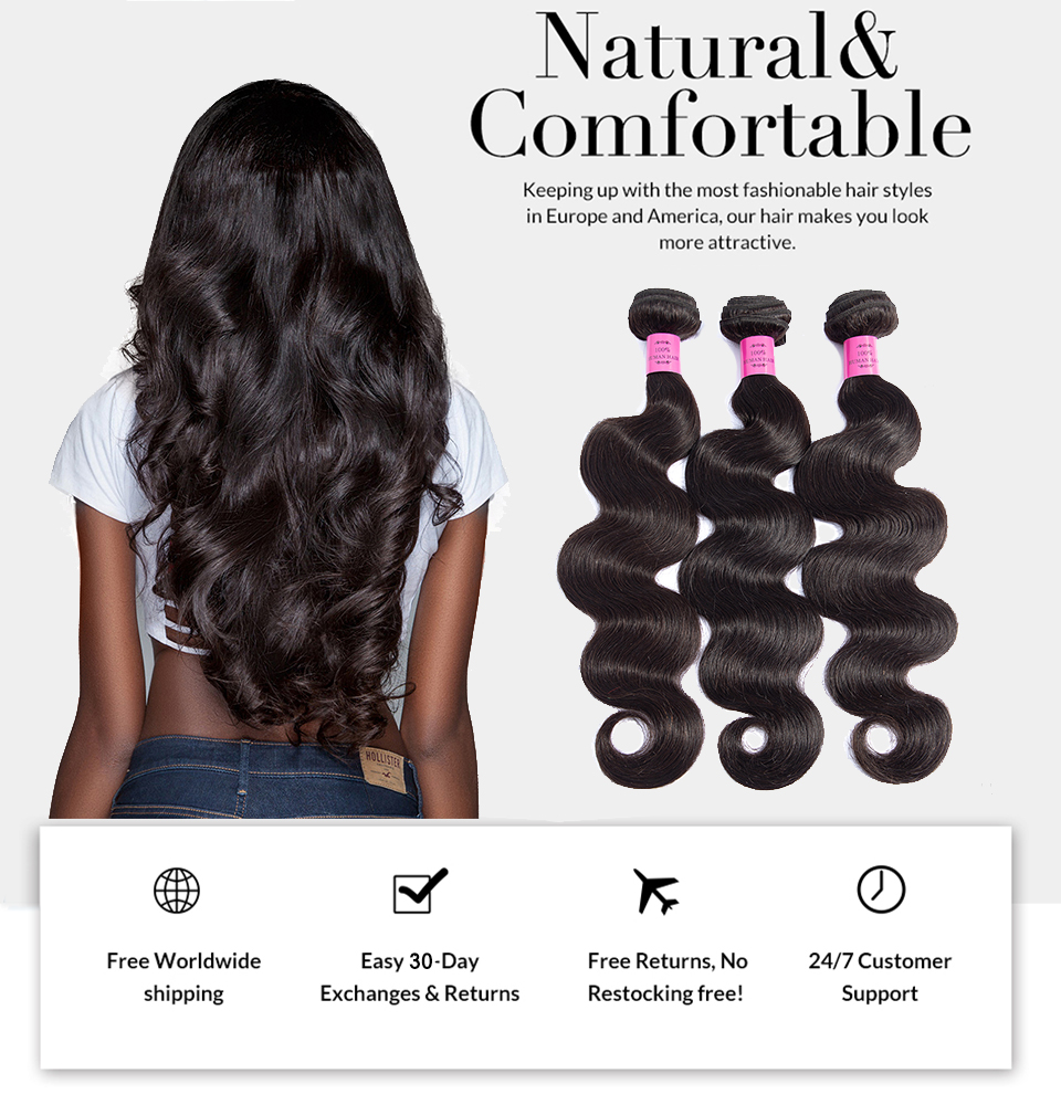Indian Body Wave Human Hair 4 Bundles