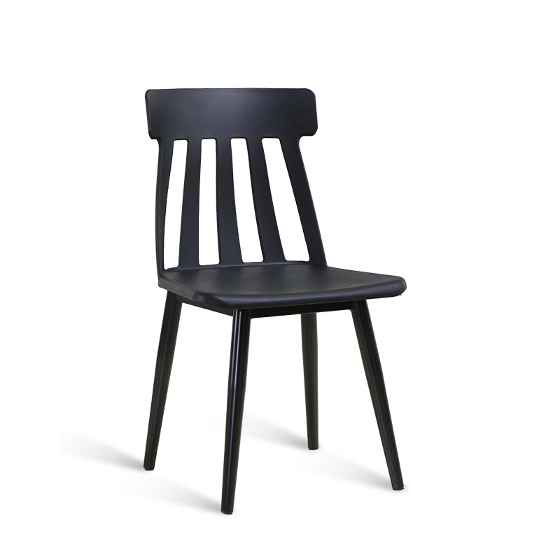 Restaurant Bar Dining Chair Plastic Backrest Originality Work Office Leisure Dining Chairs For Dining Rooms Home Furniture