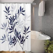 Big Leaf Printing Bathroom Curtains Waterproof Shower Bath Curtain Durable Polyester curtain for Bathing Accessories