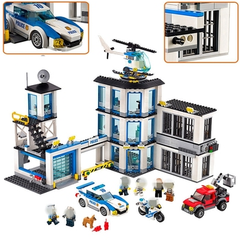 City Series Police Station Sets 10660 936Pcs Compatible Lepins 60141 Building Block Education DIY Toys For Children Gifts