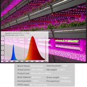 Image 3 - Lampe horticole horticole de culture intérieure, 100/LED W, spectre complet, éclairage pour culture intérieure, plantes, graines/floraison