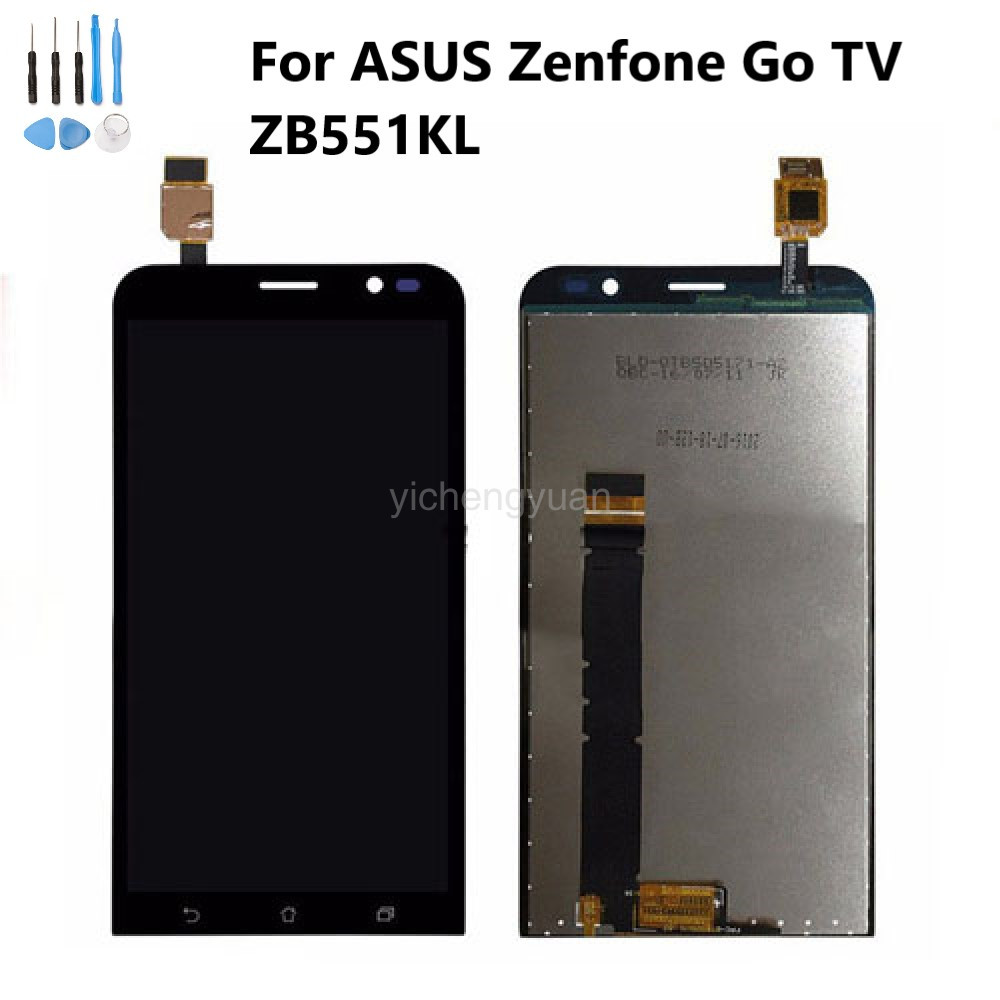 LCD Display For <font><b>ASUS</b></font> Zenfone Go ZB551KL Display Touch Screen For <font><b>ASUS</b></font> ZB551KL LCD Adr On Go TV <font><b>X013D</b></font> with Frame Original image