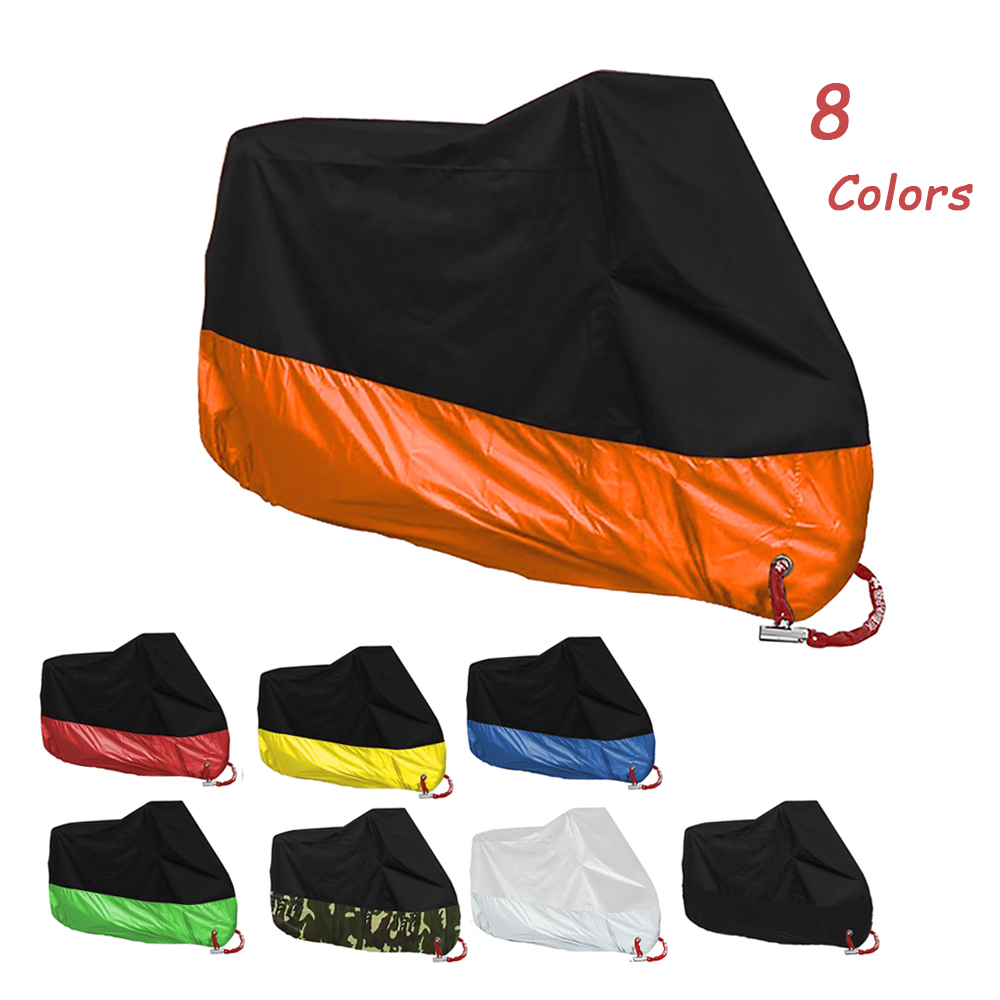 Motorcycle Cover M-4XL Uv Protector Waterproof Rain Dustproof Cost Tent For <font><b>Yamaha</b></font> XT250 TRICKER DT125 <font><b>ttr</b></font> <font><b>125</b></font> 250 600 wr 450 image