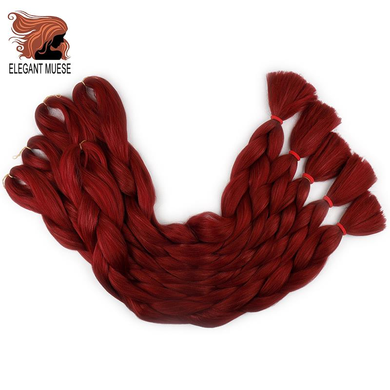 ELEGANT MUSES 165g Braiding Hair Long Crochet Hair Bulk 82 Inches Synthetic Braiding Hair Extensions For Black Women