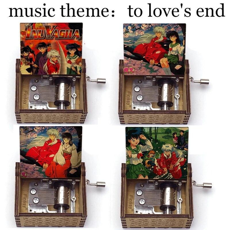 Любить конец музыкальная тема INUYASHA Кагоме Кикье принт деревянная музыкальная шкатулка любителей аниме день рождения подарок для детей игр...