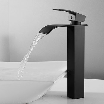 Luxury Bathroom Waterfall Faucet Antique Sink Brass Wide Flowing Hot and Cold Mixer Tap Deck Mounted Basin Torneira Contemporary 7