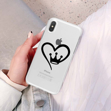 Silicone Cute Cartoon Love Crown Soft Phone Case Cover Shell For Apple iPhone X XR XS MAX 7 8 Plus 5 5s Se 6 6s