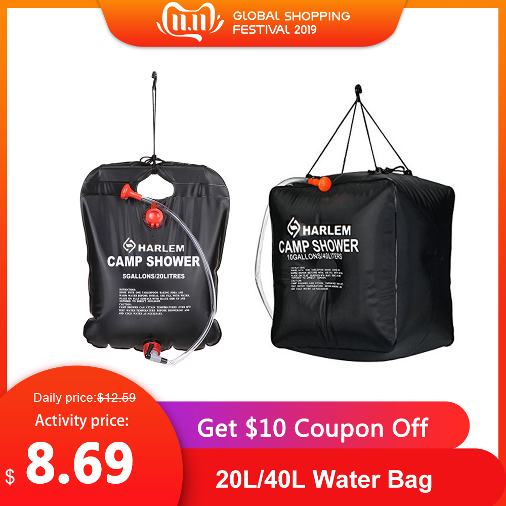 20L/40L Water Bag Energy Heated Bathing Portable Solar Heated Outdoor Camping Shower Bag Picnic Water Bag Hiking Water Storage
