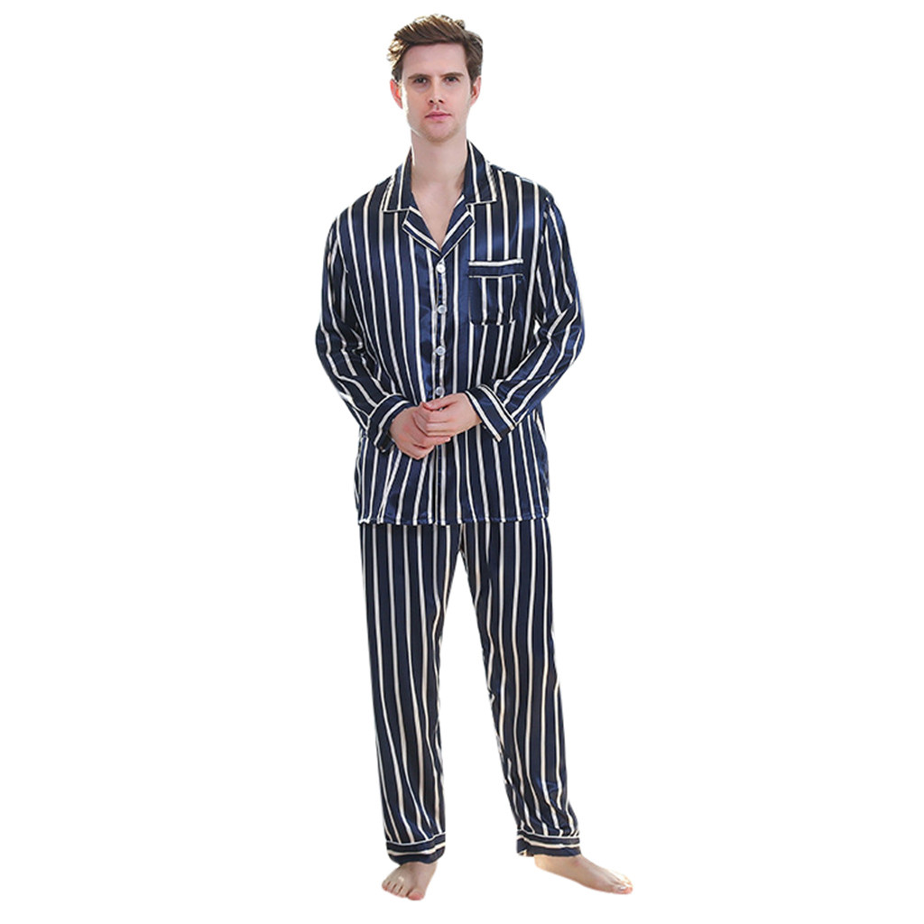 Men's Bathrobe Long-sleeved Solid Color Suit Foreign Trade Home Clothes Service Pajama Sets For Men Sleepwear Bride Robe 2019