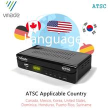 Vmade najnowszy DVB ATSC Q1 odbiornik naziemnej telewizji cyfrowej Tuner TV DVB ATSC cyfrowy dekoder H 264 HD 1080P DVB TV pudełko tuner tanie tanio CN (pochodzenie) DIGITAL sales USA KP CA