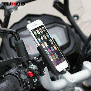 Image 4 - สำหรับKawasaki Versys 650 1000 X300 2008 2019รถจักรยานยนต์CNC Handlebarกระจกมองหลังผู้ถือโทรศัพท์มือถือขาตั้งGPS Bracket