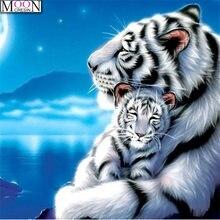 5d diy алмазная живопись тигр животные полный квадрат и круглая
