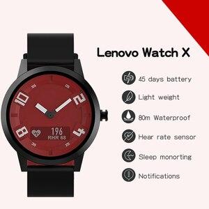 Image 2 - Lenovo שעון X לב שיעור דם לחץ Bluetooth Smartwatch ספיר מראה ספורט שעון מתכת IP68 עמיד למים עבור גברים נשים
