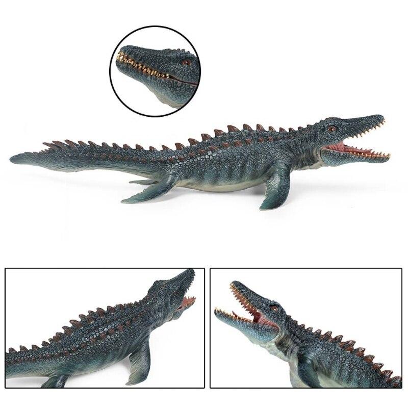 Simulación estática sólida modelo de Animal salvaje ornamentos mandíbula móvil juguete de Spinosaurus