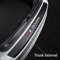Декоративные кожаные наклейки для заднего бампера автомобиля Skoda OCTAVIA 2 3 A7 VRS MK2 MK3 a5 RS защитная пластина для багажника автомобиля